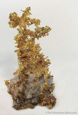 Crystallized Gold on Quartz