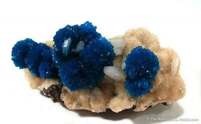Cavansite and Stilbite on Stilbite