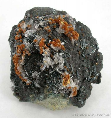 Hutchinsonite With Baryte and Orpiment