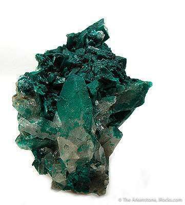 Pseudomalachite on Quartz
