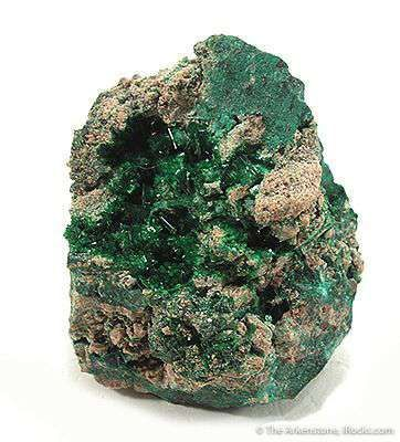 Metatorbernite With Malachite