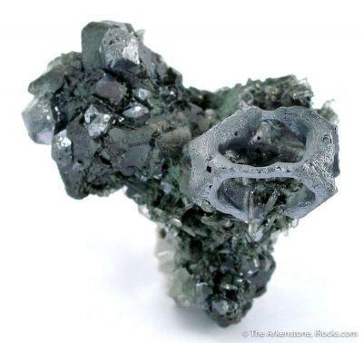 Galena - Cuboctohedral (Skeletal)
