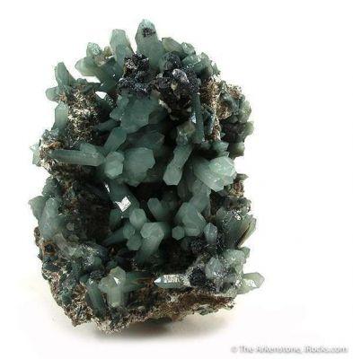 Hedenbergite-Included Quartz With Hematite