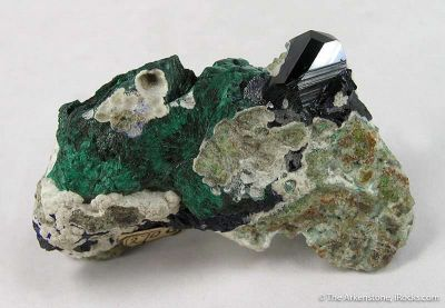 Azurite (Chessylite) With Neat Old Label