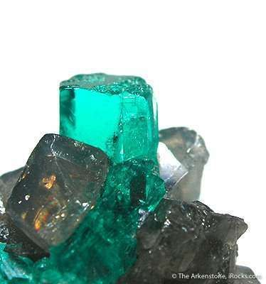 Emerald With Calcite