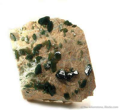 Carbonate-Fluorapatite on Feldspar
