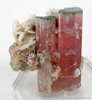 Tourmaline (Blue Cap!) With Albite