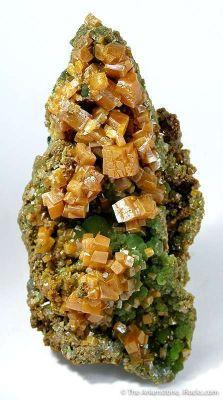 Wulfenite (Pseudocubic) on Mimetite