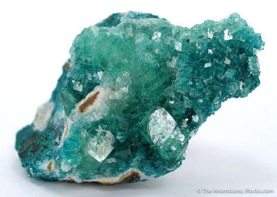 Cuprian Smithsonite on Rosasite