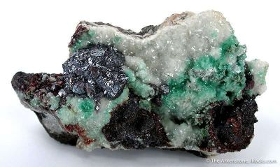 Cuprite on Dolomite With Malachite