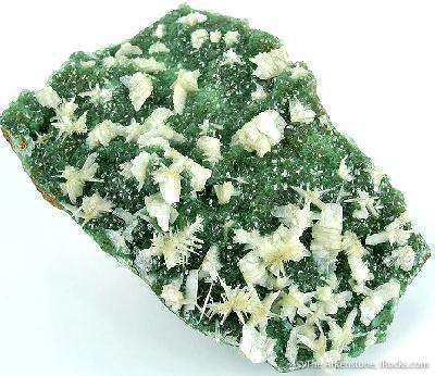 Smithsonite Var. Cuprosmithsonite With Cerussite