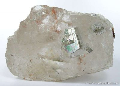 Pyrite Included in Quartz