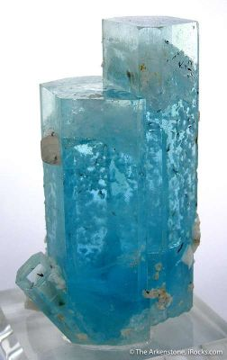 Aquamarine With Schorl And Albite