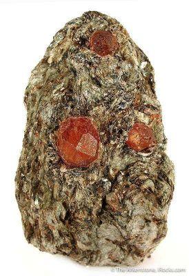 Spessartine Garnet In Mica Schist