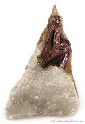 Erythrite on Quartz