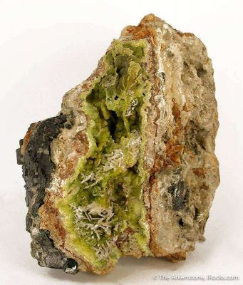 Pyromorphite With Cerussite, Galena, and Leadhillite