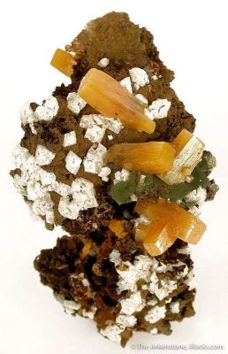 Wulfenite With Calcite and Mimetite