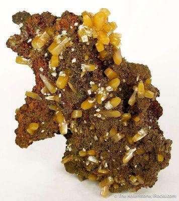 Wulfenite With Calcite