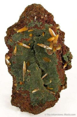 Wulfenite on Mimetite