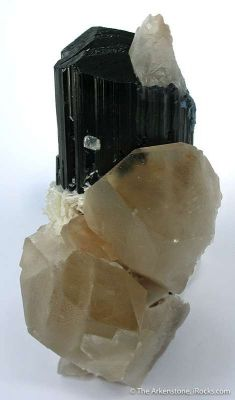Schorl With Quartz And Albite