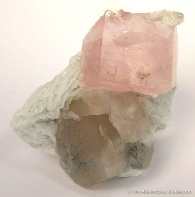 Morganite on Cleavelandite With Quartz