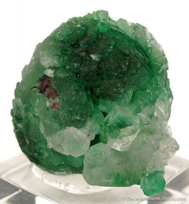 Calcite Included By Malachite