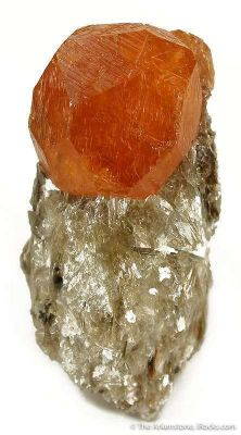 Spessartine Garnet on Muscovite