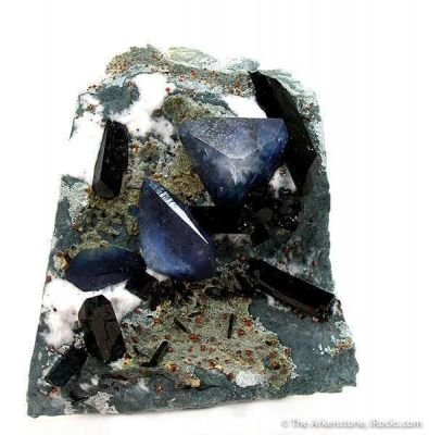 Benitoite, Neptunite and Joaquinite