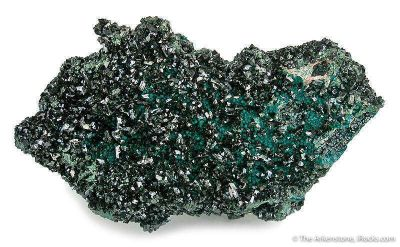 Brochantite on Chrysocolla