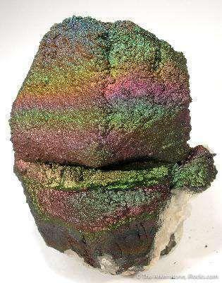 Limonite (Iridescent) on Quartz