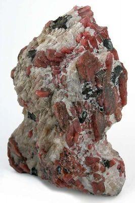 Rhodonite, Calcite And Franklinite