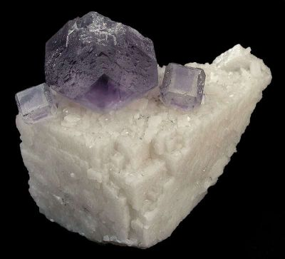 Fluorite on Dolomite Floater