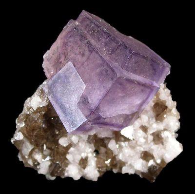 Fluorite With Scheelite