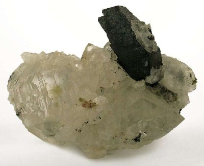Babingtonite on Calcite
