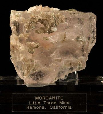 Morganite With Muscovite