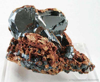 Hematite (Twinned Crystals) With Andradite Garnet