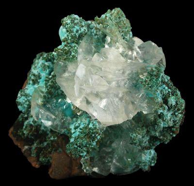 Calcite on Aurichalcite
