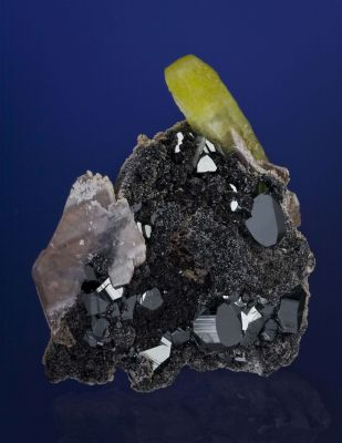 Ettringite With Hematite and Calcite