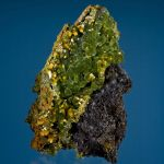 Mimetite With Wulfenite on Galena
