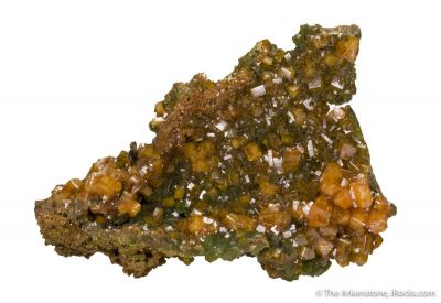 Wulfenite (Gemmy) on Mimetite