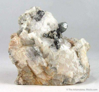 Argentite on Calcite