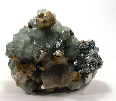 Apatite-(Caf), Arsenopyrite, Siderite, Quartz