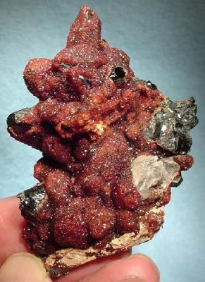 Andradite, Hematite, Calcite
