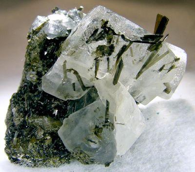Actinolite, Calcite