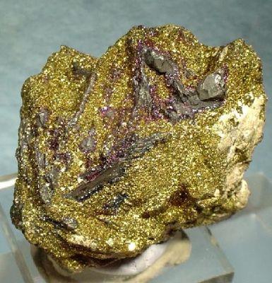 Acanthite, Polybasite, Chalcopyrite