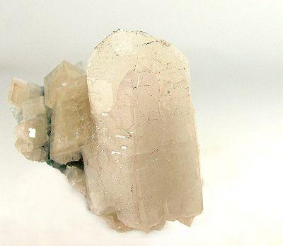 Aragonite, Aragonite (Var: Plumboan Aragonite), Calcite