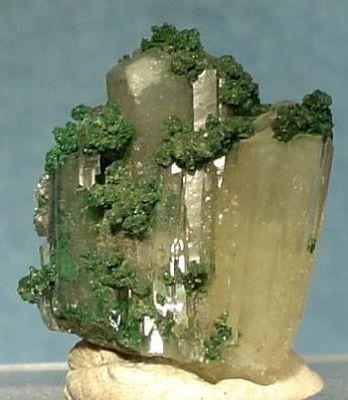 Aragonite (Var: Plumboan Aragonite), Malachite