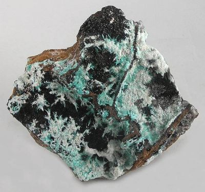 Aurichalcite, Plattnerite, Limonite