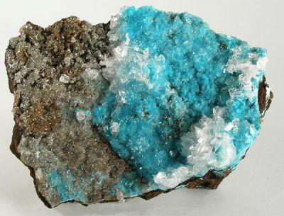 Aurichalcite, Calcite