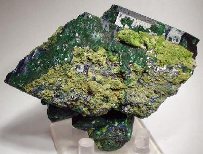 Azurite, Malachite, Mottramite